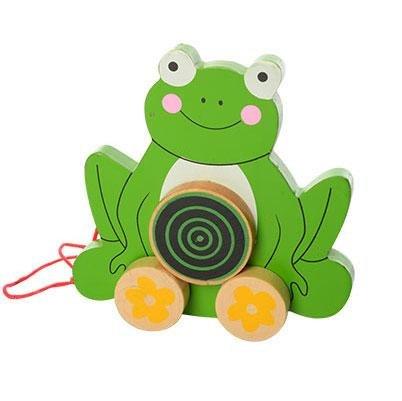 Деревянная игрушка каталка на веревочке в ассортименте