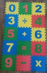 """Мягкий игровой пол """"Математика"""" 15 пазлов, 25×25см ECO COVER"""