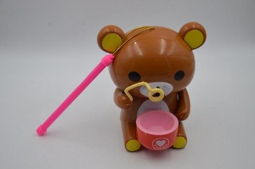 Медведь пускающий мыльные пузыри, на батарейках
