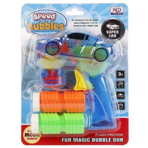 """Пистолет для пускания мыльных пузырей """"Машина"""" свет, звук"""
