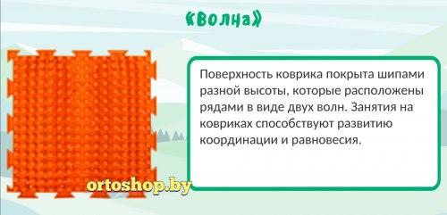 """Коврик ОРТО """"Волна"""" твёрдый"""