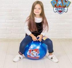 """Мяч прыгун с рожками Paw Patrol """"МАРШАЛ"""" Диаметр 45 см"""