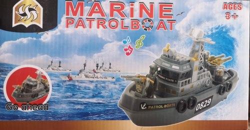 Военный катер на батарейках