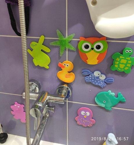 """Набор мини-ковриков для ванны """"Друзья совы"""" (на присосах), 8 шт"""