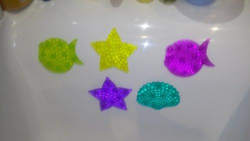 """Набор мини-ковриков для ванны """"Кристальный микс"""" (на присосах), 5 шт"""
