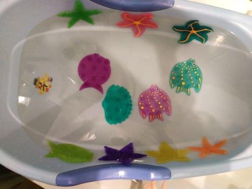 """Набор мини-ковриков для ванны """"Звёздочки и Рыбки"""" (на присосах), 6 шт"""