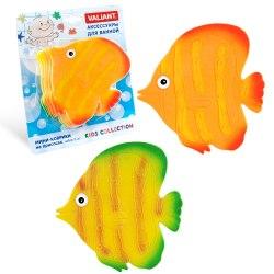 """Мини коврик для ванной """"Рыба"""", 1 шт (на присосках)"""