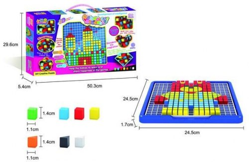 Объемная мозаика в коробке, 585 деталей