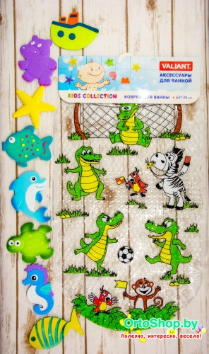 """Набор """"Крокодильчик и его друзья"""" большой коврик + 8 мини-ковриков"""