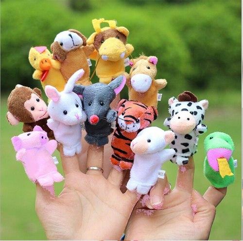 """Мягкие мини игрушки 12 шт """"Пальчиковый театр Зоопарк"""""""