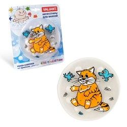 """Мини коврик для ванной """"Котик""""или """"Жирафики"""" или """"Зебра"""" 1 шт (на присосках) на выбор"""