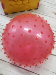 """Большой мячик с пупырышками, """"Ёжик"""" 18 см, мягкий"""