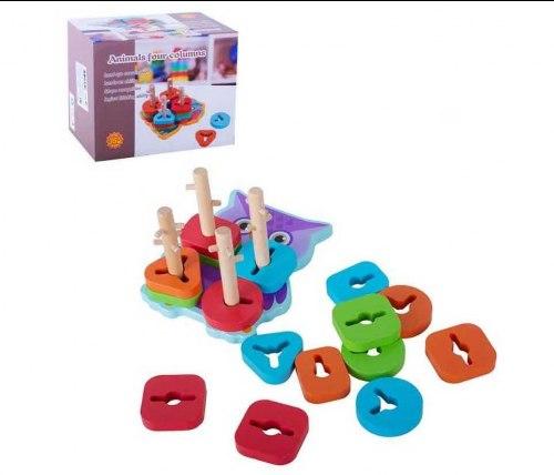 """Пирамидка замочки логика для малышей """"Сова"""""""