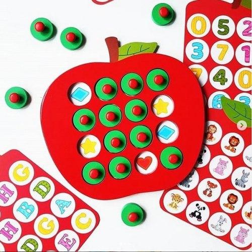 """Игра Яблочко для малышей """"Запоминай-ка"""""""