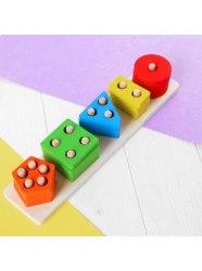 Логическая пирамидка Геометрик 5 форм