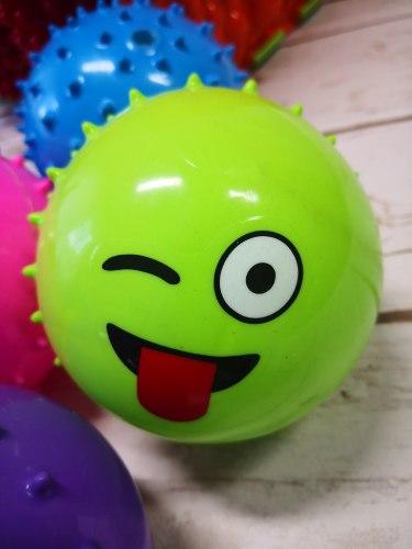 """Мячик Ёжик """"Смайлик"""" 9 см, мягкий (голубой, красный, розовый, жёлтый, сиреневый)"""