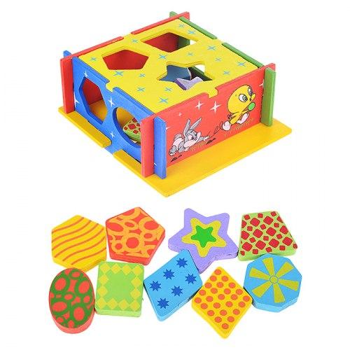 Сортер Куб деревянный