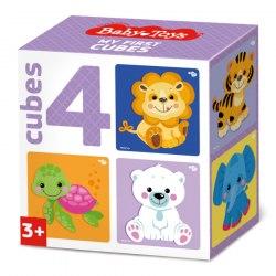 """Кубики для малышей """"Звери"""" 4 шт BabyToys"""