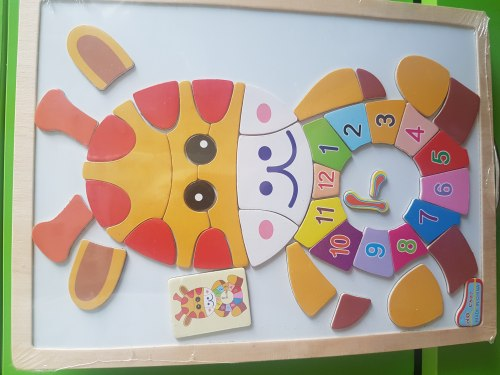 Магнитная Мозаика Жираф с часами