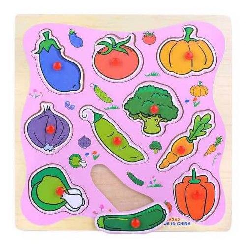 "Деревянный пазл ""Овощи с грядки"""