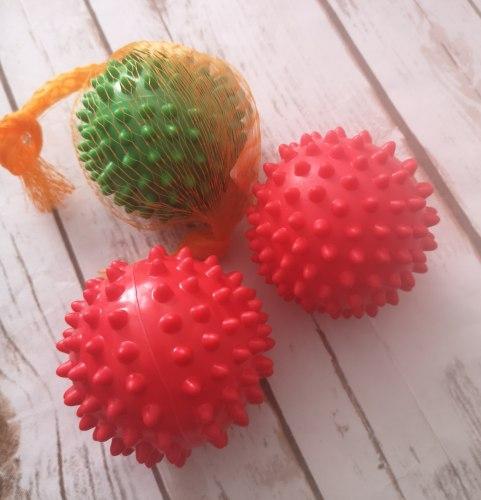 """Массажный мячик """"Ёжик"""" 7-8 см, средний по жесткости"""