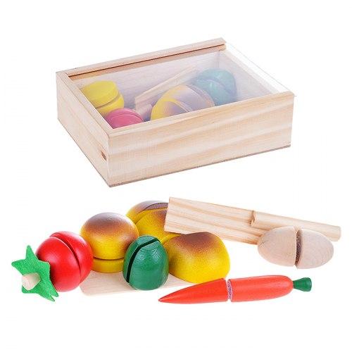 Разрезные продукты в ящике на липучках маленькие