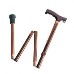 Трость алюминиевая с деревянной рукояткой складная ANTAR АТ 51104