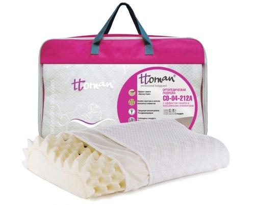 Подушка ортопедическая с эффектом памяти и массажными элементами CO-04-212A Высота 14 см Экотен CO-04-212A
