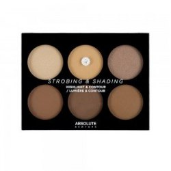 Палетка для контурирования лица ABSOLUTE Strobing & Shading Highlight & Contour - Tan to Deep