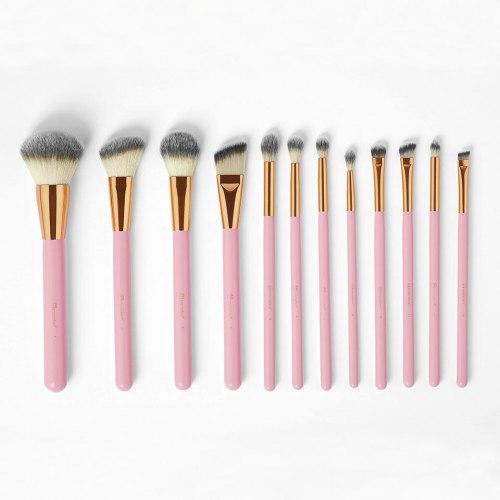 Набор кистей в подставке BH COSMETICS Pink Studded Elegance 12-Piece Brush Set