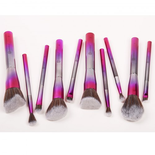 Набор кистей BH COSMETICS 10 Piece Metalized Brush Set