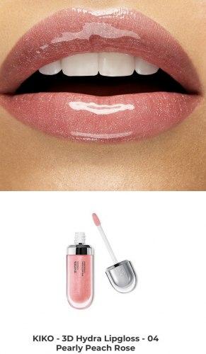Блеск для губ смягчающий с трехмерным эффектом KIKO MILANO 3D Hydra Lipgloss - 04 Rosa Pesca Perlato