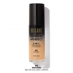 Основа тональная MILANI Conceal + Perfect 2-In-1 Foundation - 02 Natural