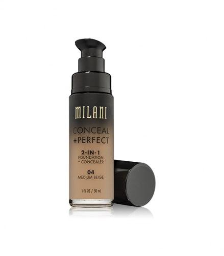 Основа тональная MILANI Conceal + Perfect 2-In-1 Foundation - 04 Medium Beige