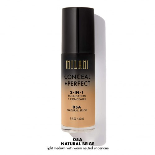 Основа тональная MILANI Conceal + Perfect 2-In-1 Foundation - 05A Natural Beige