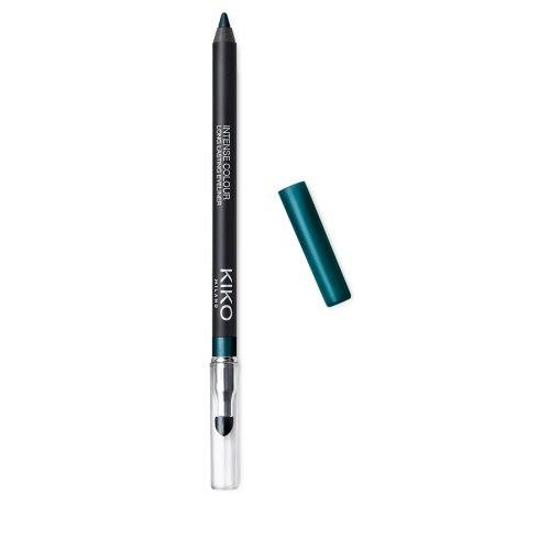 Стойкий гладкоскользящий карандаш для глаз KIKO MILANO Intense Colour Long Lasting Eyeliner - 11 Blu Ottanio Metallico