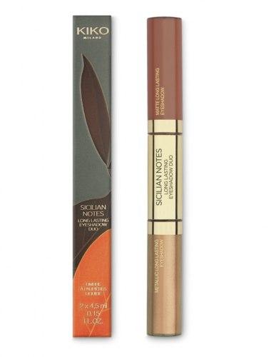 Тени для век KIKO MILANO Sicilian Notes Long Lasting Eyeshadow Duo 03 Hazelnut & Gold
