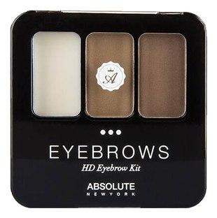 Набор теней для бровей ABSOLUTE HD Eyebrow Kit - Ash Blonde