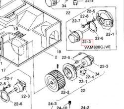 Запчасть DAIKIN 0692872 FAN MOTOR 200V - 220W CU-4704D VAM800C