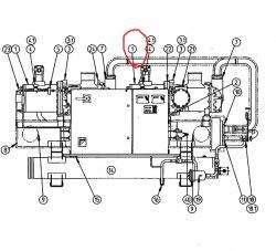 Запчасть DAIKIN 0803533 ZHA7A-BL-TE screw compr 60Hp