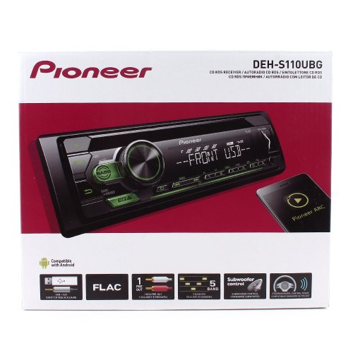 Автомагнитола Pioneer DEH-S110UBG зеленая подсветка