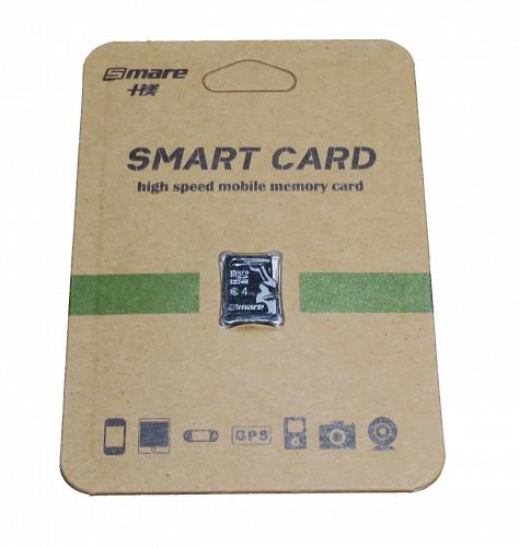Микро SD-карточка Smare microSDHC 4GB card Class 6 без adapter