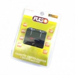 Переходник/разветвитель USB от разъема прикуривателя автомобиля PULSO SC-2070