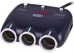 Переходник/разветвитель USB от разъема прикуривателя автомобиля PULSO SC-3003