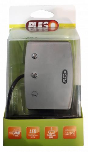 Переходник/разветвитель USB от разъема прикуривателя автомобиля PULSO SC-3005