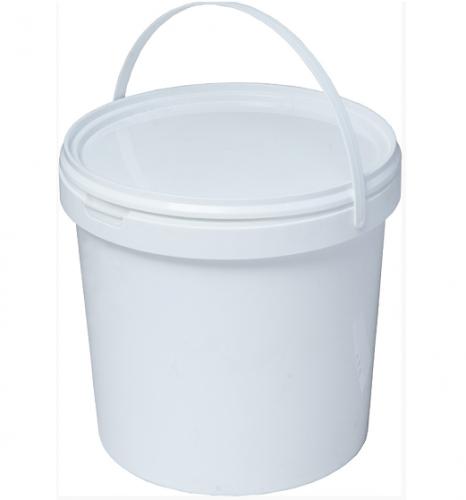 Ведро пластиковое круглое с крышкой (21л)