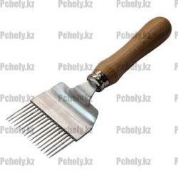Вилка для распечатки сотов (дер.ручка, прямые иглы нерж.)
