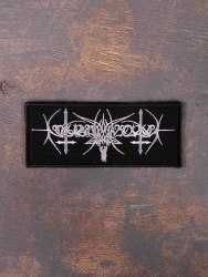 NOKTURNAL MORTUM - Goat Horns Logo Нашивка Black Metal
