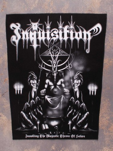 INQUISITION - Invoking The Majestic Throne Of Satan нашивка на спину Black Metal