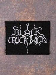 BLACK CRUCIFIXION - Logo Нашивка Black Metal